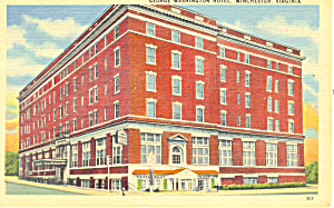 George Washington Hotel,Winchester,Virginia Postcard (Image1)
