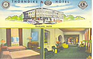 Thorndike Hotel Rockland Maine Postcard p16975 (Image1)