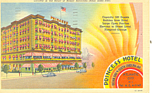 Princess Hotel, Atlantic City, New Jersey Postcard (Image1)