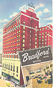 Bradford Hotel Boston Massachusetts Postcard p16980 (Image1)