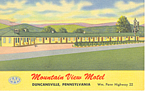 Mountain View Motel  Duncansville  PA Postcard p16983 (Image1)