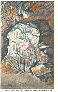 Woodward Cave,Tower of Babel, Woodward,PA Postcard (Image1)