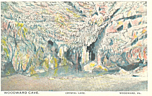 Woodward Cave Crystal Lake Woodward PA Postcard p16989 (Image1)