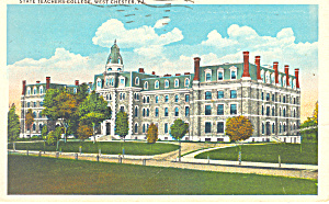 State Teachers College West Chester PA  Postcard p16991 (Image1)
