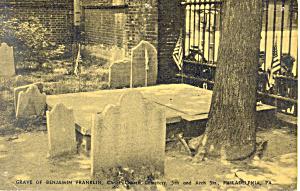 Grave of Benjamin Franklin,Philadelphia,PA  Postcard (Image1)