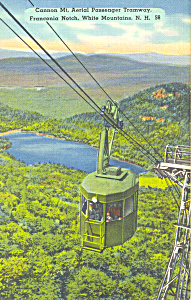 Aerial Tramway, Cannon Mountain, NH  Postcard (Image1)