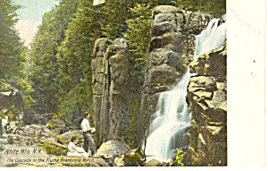 Cascade in Flume Franconia Notch  NH   Postcard p17116 (Image1)