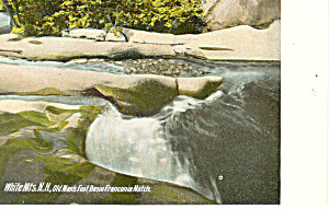 Old Mans Foot Basin,Franconia Notch,NH  Postcard (Image1)