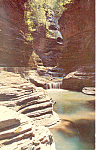 Glen of the Pools Watkins Glen NY  Postcard p17175 (Image1)