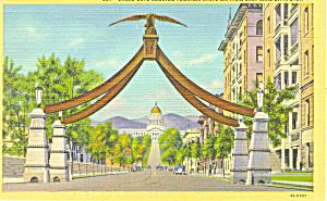 Eagle Gate Salt Lake City UT Postcard p1532a (Image1)
