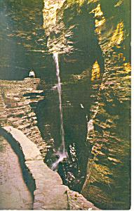 Cavern Cascade, Watkins Glen  NY  Postcard (Image1)