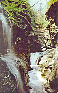 Rainbow Falls, Watkins Glen  NY  Postcard (Image1)