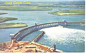 Long Sault Dam St Lawrence Seaway  NY  Postcard p17190 (Image1)
