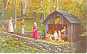 Nativity Pagent, Santas Workshop  NY  Postcard p17197 (Image1)