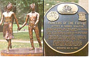 Pioneers Statue, Bismark, ND Postcard (Image1)