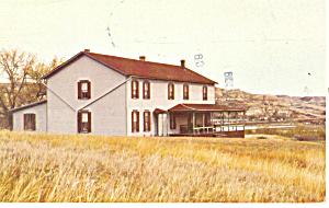 Marquis de Mores House Badlands ND Postcard p17203 1981 (Image1)