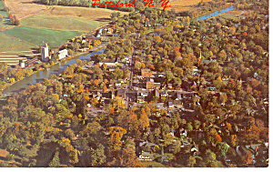 Aerial View of Pittsford  NY  Postcard p17211 1972 (Image1)