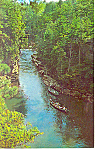Famous Ausable Chasm Ny Postcard P17233 1967