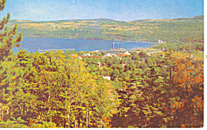 View of Watkins Glen NY  Postcard 1959 (Image1)