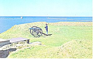 Guard Duty Fort Ontario NY  Postcard p17244 1966 (Image1)