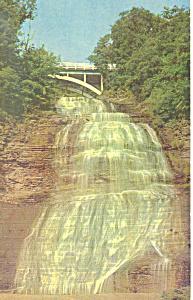Chequagah Falls Montour Falls NY  Postcard p17249 (Image1)