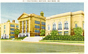 Baltimore MD Polytechnic Institute  Postcard (Image1)
