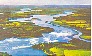 Power Project St Lawrence Seaway NY Postcard p17266 (Image1)