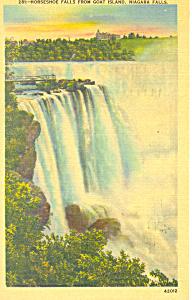 Horseshoe Falls, Niagara Falls, NY Postcard 1946 (Image1)