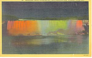 American Falls, Niagara Falls, NY Postcard 1946 (Image1)