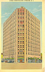 Chimes Tower Bldg Syracuse NY Postcard p17276 1941 (Image1)