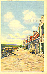 South Platform Fort Ticonderoga NY Postcard p17282 1948 (Image1)