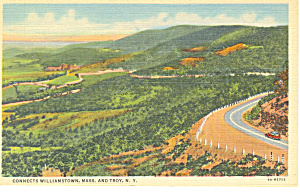 Looking Down Taconic Trail Postcard p17283 1948 (Image1)