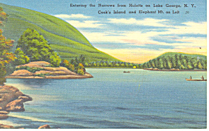 The Narrows Lake George NY Postcard p17291 1954 (Image1)