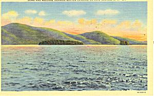 Dome Island Lake George NY Postcard p17292 1952 (Image1)