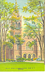 St Peters Church, Rome, Ny Postcard