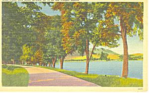 Bull Point and Lake Keuka NY Postcard p17301 (Image1)