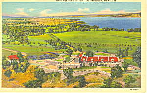 Aerial View of Fort Ticonderoga NY Postcard p17307 (Image1)