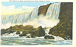 Rock of Ages American Falls, Niagara Falls, NY Postcard (Image1)