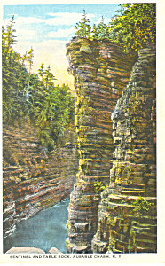 Table Rock Ausable Chasm Ny Postcard P17330