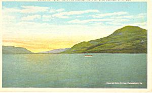 Black Mt Lake George NY  Postcard p17333 1925 (Image1)