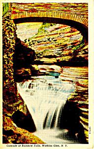 Rainbow Falls Watkins Glen NY  Postcard p17338 (Image1)