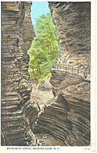 Whirlwind Gorge, Watkins Glen, NY  Postcard 1933 (Image1)