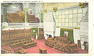 Senate Chamber State Capitol Albany NY  Postcard p17343 (Image1)