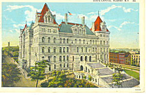 State Capitol Albany NY  Postcard p17344 1928 (Image1)