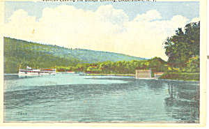 Mohican Leaving Cooperstown NY  Postcard p17348 1929 (Image1)
