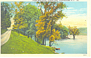 Otsego Lake Cooperstown NY  Postcard p17350 (Image1)