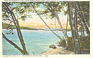 Raquette Lake Adirondacks  NY  Postcard p17352 (Image1)