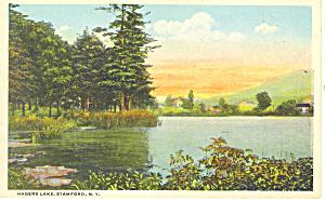 Hagers Lake Stamford NY  Postcard p17354 (Image1)