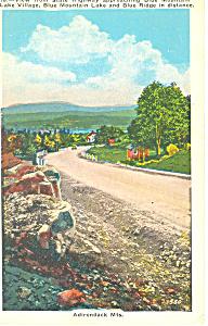 Blue Mountain Adirondacks NY  Postcard p17360 (Image1)
