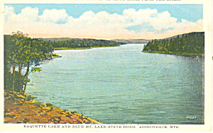 Raquette Lake Adirondacks NY  Postcard p17362 (Image1)